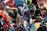 Justice League- Heroic Panels Póster