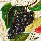 Tuscan Sun Grapes Wood Print by Jennifer Garant
