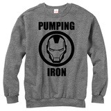 Crewneck Sweatshirt: Iron Man- Pump Iron T-Shirt