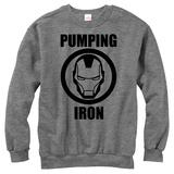 Crewneck Sweatshirt: Iron Man- Pump Iron Camisas