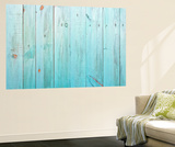 Old Painted Wood Wall - Texture or Background Wall Mural by  Madredus
