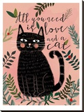 All You Need Cat Stretched Canvas Print by Mia Charro