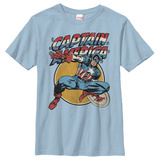 Youth: Captain America- Leap To Action T-shirts