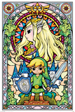 The Legend Of Zelda- Stained Glass Kunstdrucke