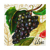 Tuscan Sun Grapes Giclee Print by Jennifer Garant