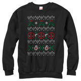 Crewneck Sweatshirt: Deadpool- Deadly Sweater T-Shirt