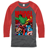 Long Sleeve: Marvel- Classic Team  (Raglan) T-Shirt