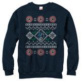 Crewneck Sweatshirt: Captain America- Christmas Cheer Sweater T-skjorte