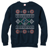 Crewneck Sweatshirt: Captain America- Christmas Cheer Sweater T-shirt