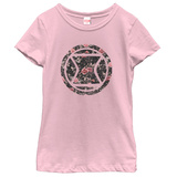 Young Girls: Black Widow- Floral Logo T-shirts