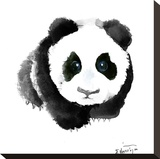 Baby Panda Stretched Canvas Print by Suren Nersisyan