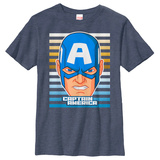 Youth: Captain America- Hero Face Shirt
