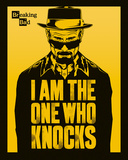 Breaking Bad- The One Who Knocks Affiche