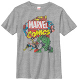 Youth: Avengers- Action Team Distressed T-Shirt