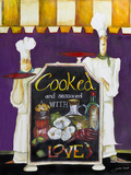 Cooked with Love Wood Print by Jennifer Garant