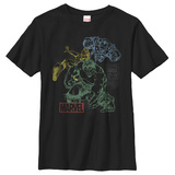 Youth: Marvel- Heroic Overlay T-Shirt
