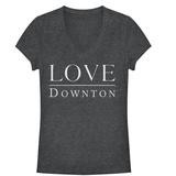 Juniors: Downton Abbey- Love V-Neck T-Shirt
