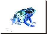 Blue Frog Stretched Canvas Print by Suren Nersisyan