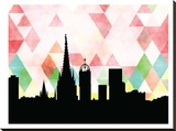 Barcelona Triangle Stretched Canvas Print