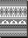 Black Tribal Stretched Canvas Print by  Jetty Printables