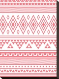 Coral Tribal Stretched Canvas Print by  Jetty Printables