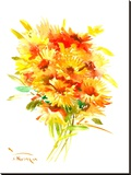 Calendulas Stretched Canvas Print by Suren Nersisyan