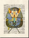 Cat Pharaoh Stretched Canvas Print by Matt Dinniman