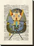 Cat Pharaoh Stretched Canvas Print by Matt Dinniman