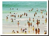 French Beach Stretched Canvas Print by Murray Bolesta