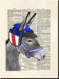 Eli Wonder Donkey Stretched Canvas Print by Matt Dinniman
