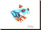 Frog Stretched Canvas Print by Suren Nersisyan