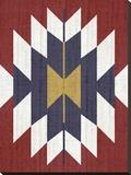 Geometric Tribal Print Stretched Canvas Print by  LILA X LOLA