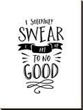 I Solemnly Swear No Good Stretched Canvas Print by Brett Wilson