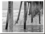 Imperial Beach Pier 1 Stretched Canvas Print by Murray Bolesta