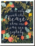 It Is Only With The Heart Stretched Canvas Print by Mia Charro