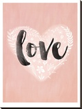 Love Heart Stretched Canvas Print by Mia Charro