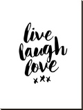 Live Laugh Love Stretched Canvas Print by Brett Wilson