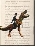 Lincoln T Rex Stretched Canvas Print by Matt Dinniman