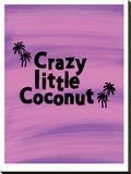 Little Coconut Stretched Canvas Print by Ashlee Rae