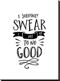 I Solemnly Swear No Good Stretched Canvas Print by Brett Wilson