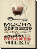 Mocha Expresso Stretched Canvas Print by Marco Fabiano