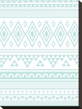 Mint Tribal Stretched Canvas Print by  Jetty Printables