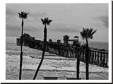 Oceanside Pier 8 Stretched Canvas Print by Murray Bolesta