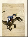 Paul Revere Stretched Canvas Print by Matt Dinniman