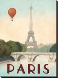 Paris Stretched Canvas Print by Marco Fabiano