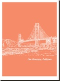 Skyline San Francisco 8 Stretched Canvas Print by Brooke Witt