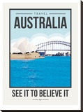 Travel Poster Australia Stretched Canvas Print by Brooke Witt
