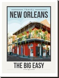 Travel Poster New Orleans Stretched Canvas Print by Brooke Witt