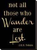 Wander Lost Golden Black Stretched Canvas Print by Amy Brinkman