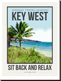 Travel Poster Keywest Stretched Canvas Print by Brooke Witt